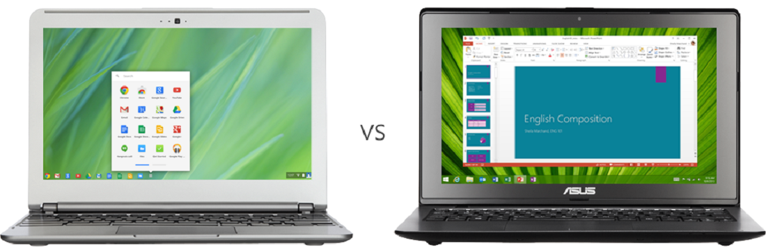Microsoft Laptop vs. Chromebook