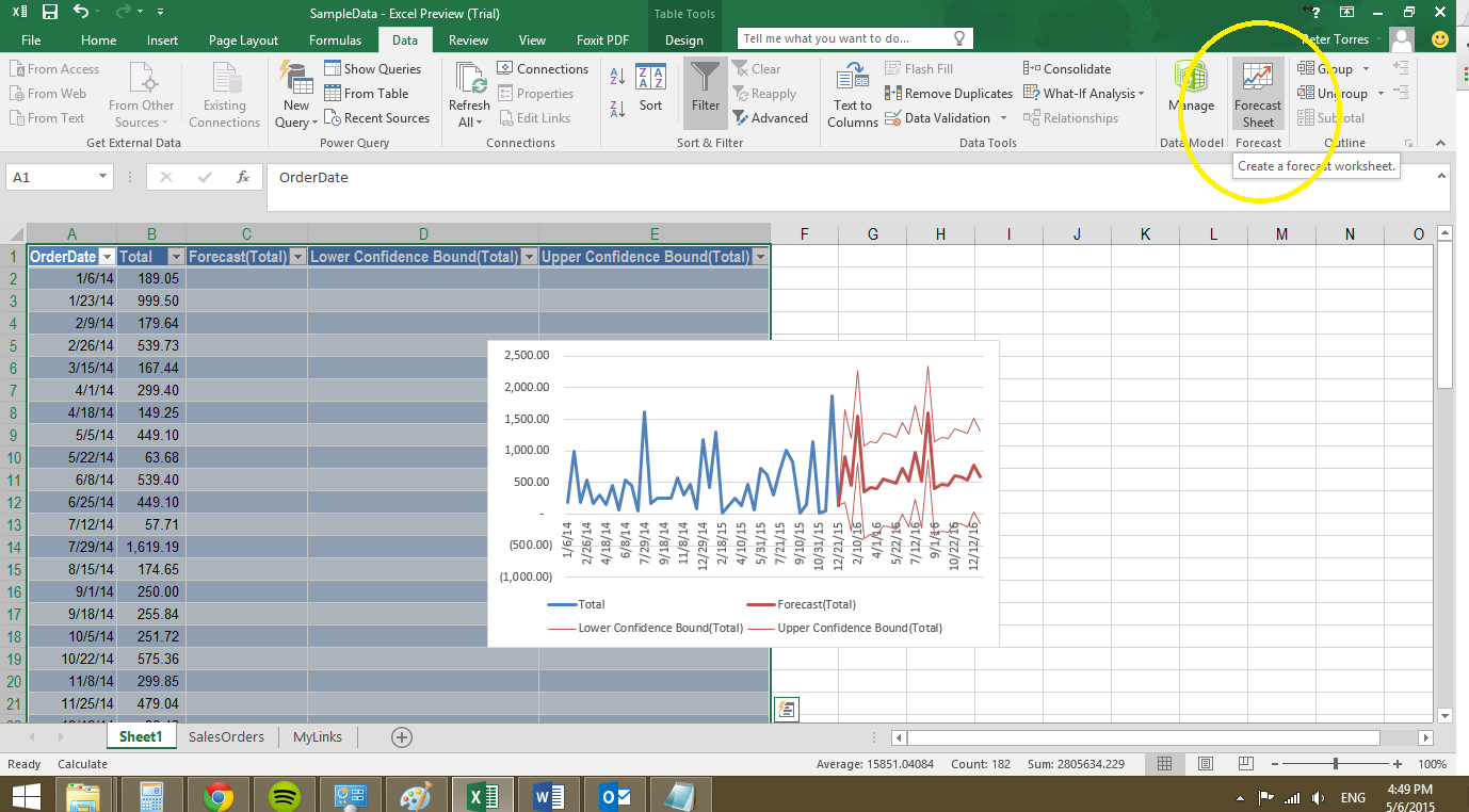 excel forecasting